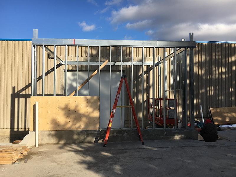 Garage door for Construction site - Mckee Horrigan Inc.